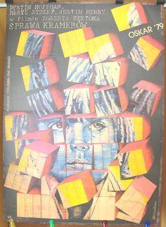 Kramer vs Kramer - Original poster for the famous US 1979 film. Polish poster by: J & L Drzewinski 1982. Home décor. Club décor. Pub décor
