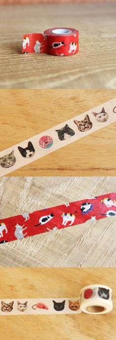 Add irresistible cuteness brought by these lovely cats on your items. Mt Tape, Masking Tape, Washi Tape, Tapas, Crazy Cat Lady, Crazy Cats, Kawaii Gifts, Stationery Pens, Decorative Tape