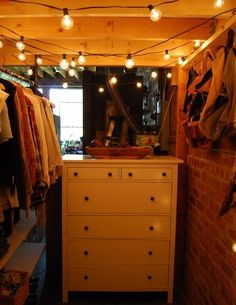 "Danielle's Good Look'n Live/Work Loft - place ""closet"" and dresser under the loft bed"