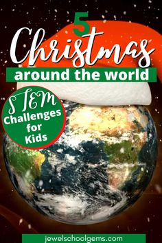 Christmas Around the World STEM Activities and Challenges for Kids by Jewel's School Gems| Looking for ideas for easy Christmas STEM projects? Try these Christmas Around the World STEM challenges! Your students will not only learn interesting facts about Christmas in other parts of the world, but also participate in engineering activities that will require the use of problem solving and communication skills, as well as collaboration and creativity. CLICK TO LEARN MORE! #christmasstemactivities