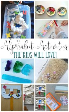 Looking for fun ways to play with letters? These Alphabet Practice Activities are a total blast! Kindergarten Literacy Stations, Early Literacy, Teaching Kindergarten, Preschool Learning, Toddler Learning, Early Learning, Alphabet Activities, Hands On Activities, Literacy Activities