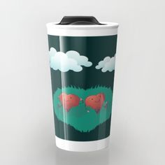 Hearts in the Clouds Travel Mug