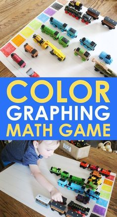 This color graphing activity is great for any child who knows colors and can sort! Starting kindergarten math games with your child when they are 3 and 4 years old is a great way to help them get ahead when they start school. Kindergarten Math Games, Starting Kindergarten, Graphing Activities, Math Games For Kids, Color Activities, Math Games For Preschoolers, Train Games For Kids, Color Games For Toddlers, Learning Games For Toddlers