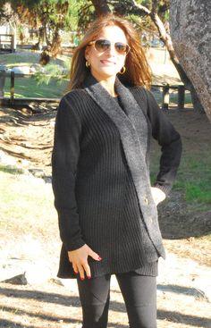 """Francesca"" Collar Draping Sweater"