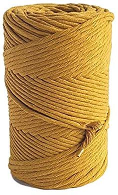 Dusty Pink MB Cordas Dusty Pink Macrame rope 3mm Single Twist Macrame String Soft 140 m Macrame cord for Handmade Plant Hanger Wall Hanging Craft Making and DIY Projects
