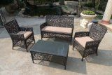 Outdoor Patio Wicker Furniture 4pcs All Weather Couch Sofa Set