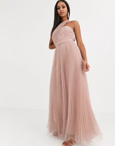 Browse online for the newest ASOS DESIGN one shoulder tulle wired hem maxi dress styles. Shop easier with ASOS' multiple payments and return options (Ts&Cs apply). Asos Dress, One Shoulder, Tulle, Formal Dresses, Mink, Shopping, Design, Fashion, Dresses For Formal