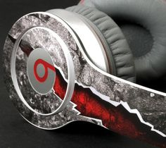 Red Cracked Stone Skin For The #Beats By Dre – http://thegadgetflow.com/portfolio/red-cracked-stone-skin-for-the-beats-by-dre/