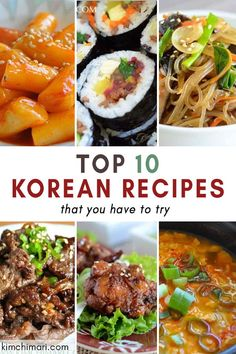 Top 10 Korean recipes that are most popular on Kimchimari. From Korean BBQ and fried chicken to Korean glass noodles and spicy soft tofu stew these are the recipes most enjoyed by Korean food lovers. Easy Korean Recipes, Asian Recipes, Mexican Food Recipes, Healthy Recipes, Ethnic Recipes, Healthy Food, Planning Menu, Korean Dishes, Asian Cooking