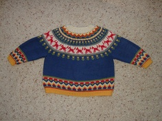 Dale of Norway baby sweater and hat