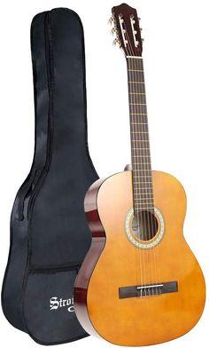 ARTALL 39 Inch Handmade Solid Wood Acoustic Dreadnought Guitar Beginner Kit with Gig Bag Strap Strings Glossy Orange Picks
