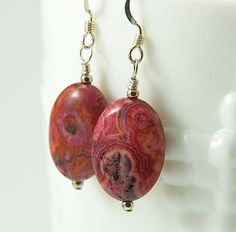 Rhodosite Earrings Pink Gemstone Earrings Rhodosite by Jularee