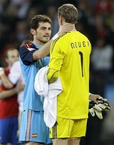 Casillas and Neuer 1 + 1 = bromance