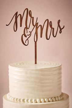 BHLDN Scripted Cake Topper in  Décor View All Décor at BHLDN