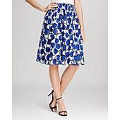 kate spade new york Blaire Stamp Dot Print Skirt
