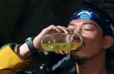 "Michael Tse drank his own urine in the Mainland survival series, ""Survivor Game."""