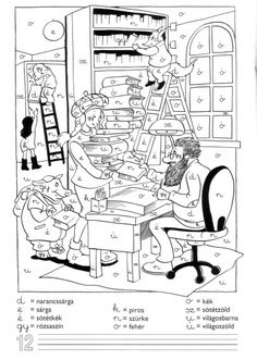 GYAKORLÓ FELADATOK 1. OSZTÁLY - webtanitoneni.lapunk.hu Asd, Speech Therapy, Worksheets, Coloring Pages, Diagram, Album, Education, Learning, School