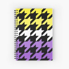Hounds Tooth, My Notebook, Canvas Prints, Art Prints, Spiral, Printed, Abstract, Purple, Awesome