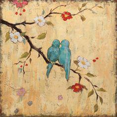 Love Birds II Impressão artística