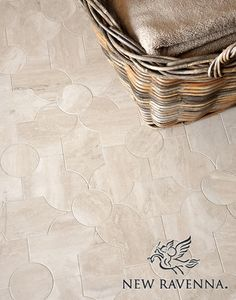 Chatham 2, a natural stone waterjet mosaic shown in honed Durango, is part of the Silk Road Collection by Sara Baldwin for New Ravenna Mosaics.
