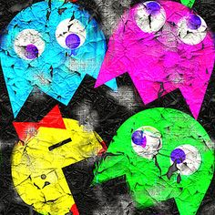 677 - Torn Ms PacMan - Pattern by Patrick Hoesly, via Flickr