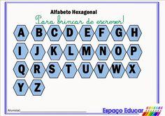 Atividade de alfabetização: alfabeto hexagonal para imprimir - ESPAÇO EDUCAR