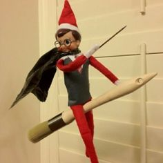 harry potter elf on duh shelf