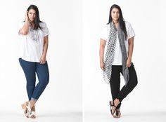 Harlow Australian Plus Size Fashion - Taking it Easy Long Line Tee, Get It On Skinny Leg Denim and Glycerine Queen Dinner Pants Slacks, Trousers, Tights, Leggings, Australian Fashion, Ss16, Skinny Legs, Fashion Brand, Plus Size Fashion