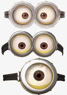 Challenger image in printable minion eyeballs