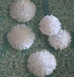 white decor balls