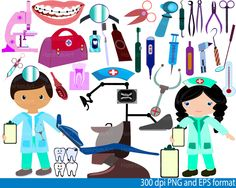 Dentist Clip Art - PNG,EPS-Digital Clip Art Graphics, Personal, Commercial Use (66 png format)-032- de HamHamArt en Etsy https://www.etsy.com/es/listing/217922193/dentist-clip-art-pngeps-digital-clip-art