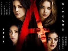 Calendrier Octobre 2014 #PLL @ABCFpll Pretty Little Liars - Série TV