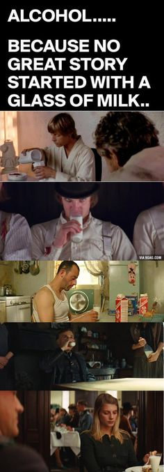 Because no great story start with a glass of milk...