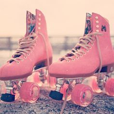 I was a figure skater (ice) when I was growing up & my blade covers were of course pink! But I'd love to have roller skates in pink now!