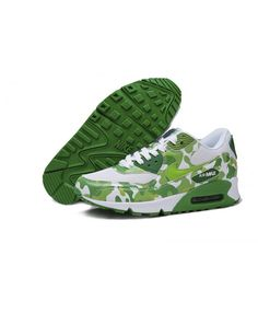 the latest 339be 6566c Nike Air Max 90 Camouflage Running Shoes Grass Green White Sale Camo Shoes,  Mens Sale