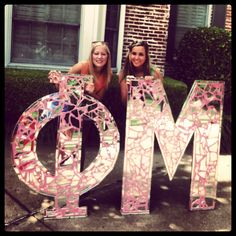Mirrored bid day letters for ΦΜ that I made!
