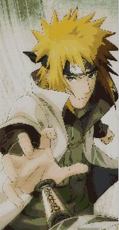 Naruto Uzumaki character cross stitch pattern, anime cross stitch pattern by Vandihand on Etsy Cross Stitch Pattern Maker, Cross Stitch Patterns, Cross Stitching, Cross Stitch Embroidery, Grille Pixel Art, Pixel Art Anime, Pixel Art Minecraft, Modele Pixel Art, Cross Stitch Beginner