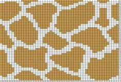 Tricksy Knitter Charts: giraffe print 2 by Denise Mochila Crochet, C2c Crochet, Crochet Chart, Filet Crochet, Knitting Charts, Knitting Patterns, Fair Isle Chart, Tapestry Crochet Patterns, Fair Isle Knitting