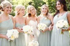 J Crew mint bridesmaids dresses...love the different cuts