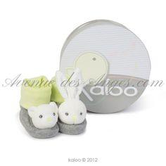 Chaussons ours et lapin - Kaloo Zen  : des chaussons kaloo ludiques et tendres, tout le confort Kaloo aux pieds de bébé http://www.avenuedesanges.com/fr/kaloo-zen/3693-chaussons-lapinou-4895029627446.html