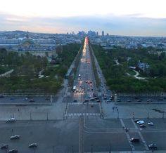 Paris, Champs-Élysées, In the sunset