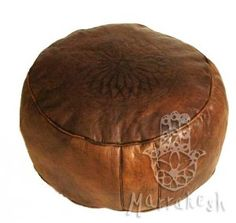 Imlil marokkói bőrpuff, barna