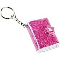 Pink key chain mini notebook