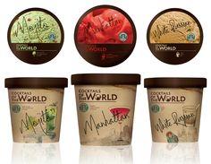 ice cream packaging by Ekaterina Leontyeva, via Behance