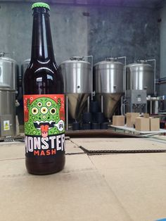 Moster Mash label by Mikey Burton http://www.scotthull.com/artists/burton