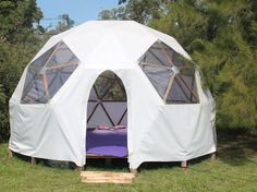 Domo 5 Mts Cubierta Impermeable Dome House, Geodesic Dome, Glamping, Outdoor Gear, Mens Fashion, Tents, Geometry, Homes, Detail