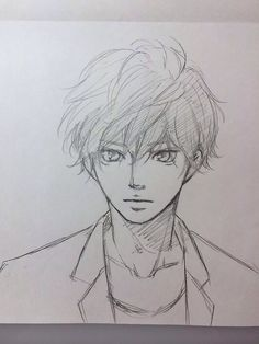 As haru ride Anime Drawings Sketches, Anime Drawing Styles, Anime Sketch, Cute Drawings, Ride Drawing, Guy Drawing, Manga Drawing, Anime Character Drawing, Character Art