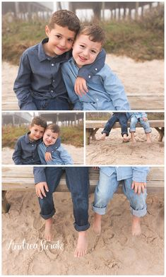 brother family pictures on the beach by andrea surak in galveston