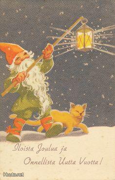 Martta Wendelin Nordic Christmas, Christmas Fairy, Christmas Past, Christmas Cross, Xmas, Vintage Christmas Cards, Vintage Cards, Vintage Postcards, Girl Face Drawing