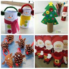 Bonitas manualidades de Navidad fáciles de hacer para niños Advent Calendar, Crafts For Kids, Christmas Ornaments, Holiday Decor, Ideas, Blog, World, Toddler Christmas Crafts, Christmas Activities